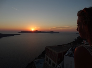 Sunset in Fira